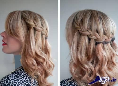 مدل موی ساده همراه با بافت تزیینی