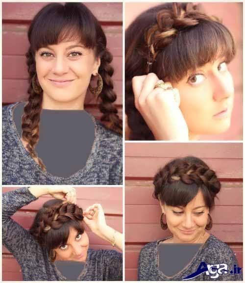 مدل موی ساده برای مهمانی همراه با بافت تزیینی
