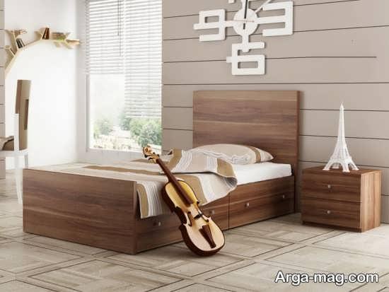 مدل تخت یک نفره چوبی