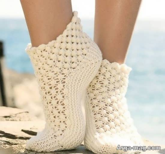 مدلهای زیبای از بافت جوراب
