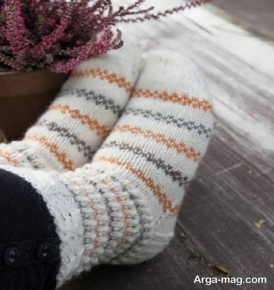 بافت جوراب با طرحی منحصر به فرد