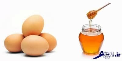 ماسک عسل و تخم مرغ