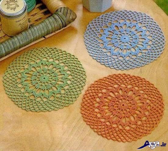 مدل قلاب بافی رومیزی جدید و زیبا با طرح های متفاوت