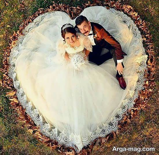تصاویری از فیگور عروس داماد در آتلیه