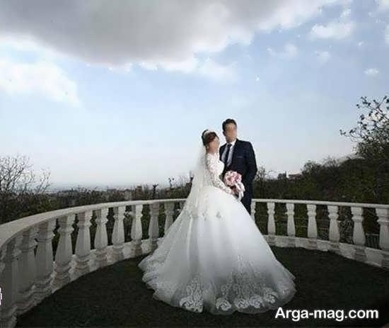 فیگور جذاب عروس و داماد در آتلیه