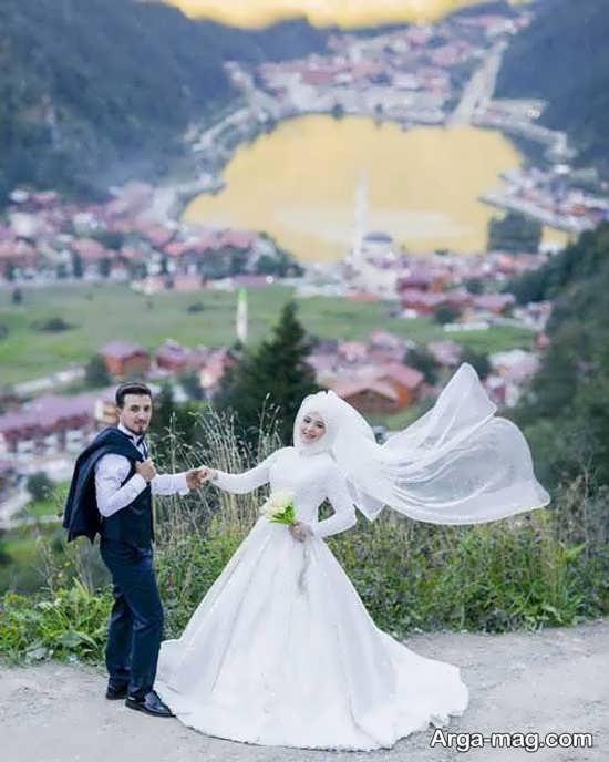 فیگور زیبای عروس و داماد در آتلیه