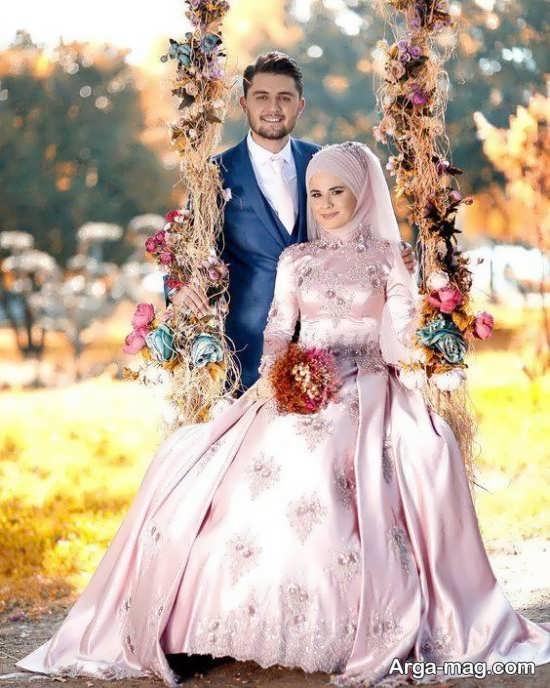 ژست عروس و داماد در آتلیه جدید