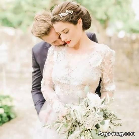فیگور عکس عروس داماد در آتلیه