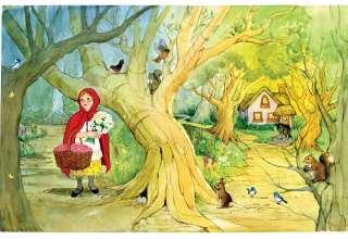 قصه شنل قرمزی برای کودکان همراه با تصاویر
