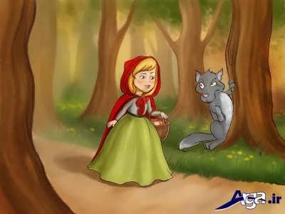 قصه زیبا و خاطره انگیز شنل قرمزی