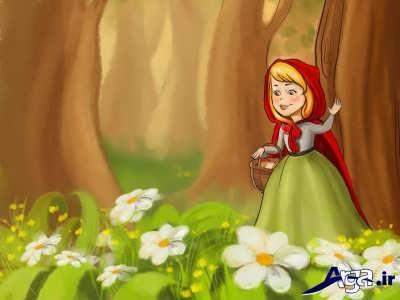داستان شیرین شنل قرمزی با روایتی کودکانه