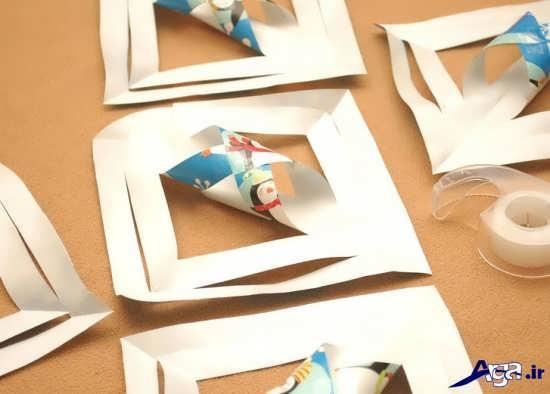 خلاقیت با کاغذ رنگی
