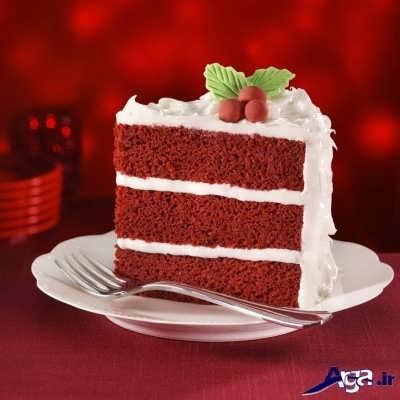 کیک مخملی خوشمزه