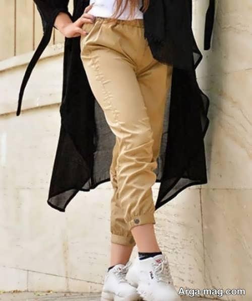شلوار پارچه ای شیک برای خانم ها