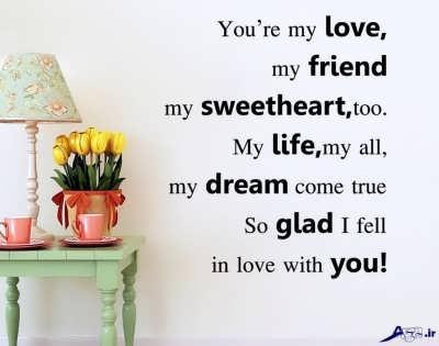 جملات عاشقانه انگلیسی بسیار زیبا به همراه ترجمه فارسیجملات انگلیسی عاشقانه و رمانتیک