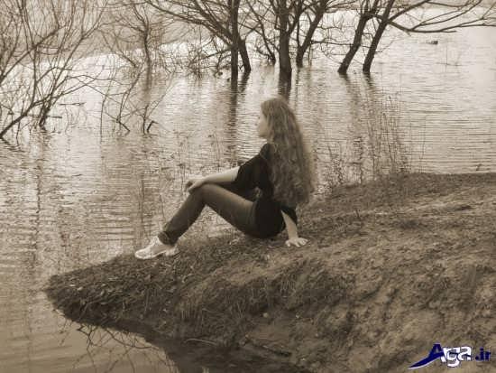 عکس های عاشقانه و غم انگیز تنهایی