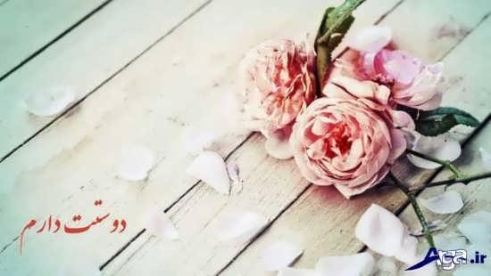 عکس نوشته دوستت دارم زیبا و عاشقانه