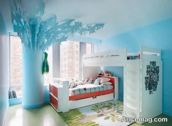 طراحی و رنگ آمیزی قشنگ اتاق خواب کودکان