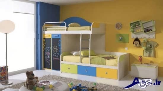 طراحی دکوراسیون داخلی اتاق خواب کودکان با طرح های فانتزی