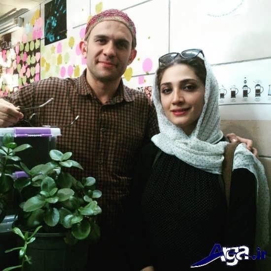 عکس های مینا ساداتی و همسرش