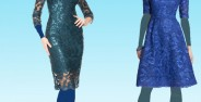 مدل لباس مجلسی کوتاه گیپور دخترانه و زنانه