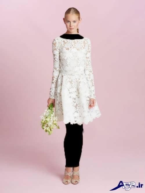 لباس مجلسی سفید گیپور