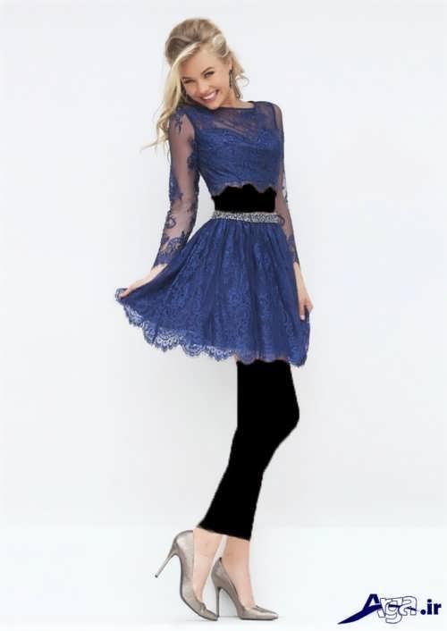 مدل لباس مجلسی کوتاه گیپور با طرح های شیک و جذاب