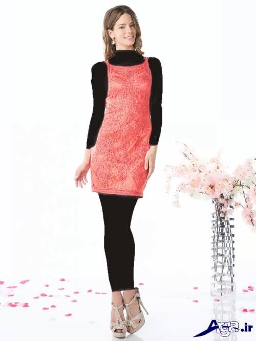 مدل لباس مجلسی کوتاه گیپور زنانه و دخترانه