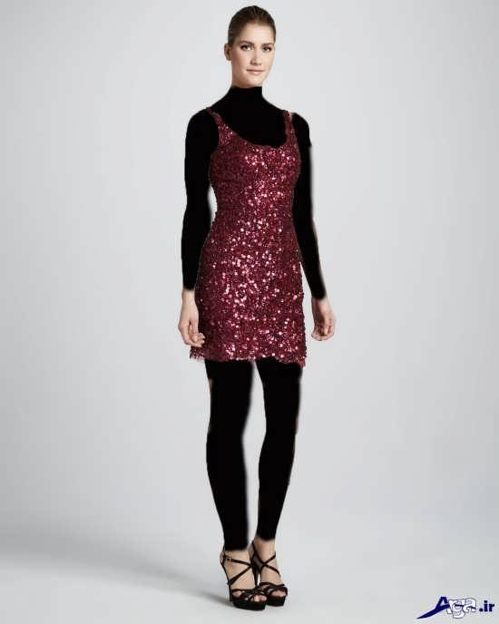 مدل لباس پولکی زیبا و جذاب زنانه