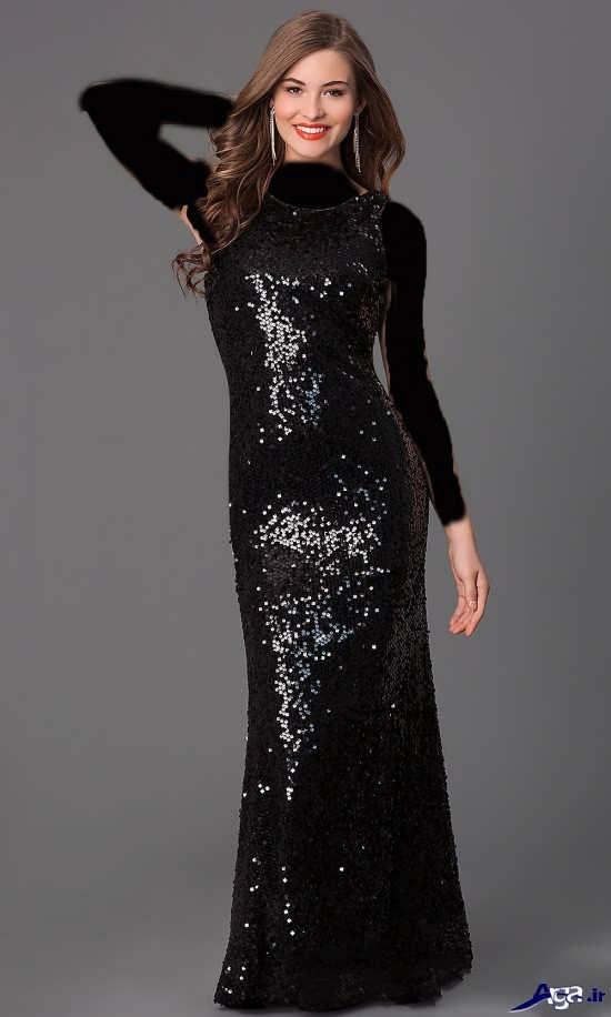 انواع مدل لباس پولکی بلند زنانه