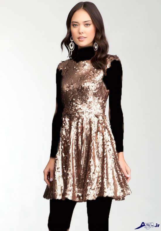 مدل لباس مجلسی پولکی زیبای دخترانه