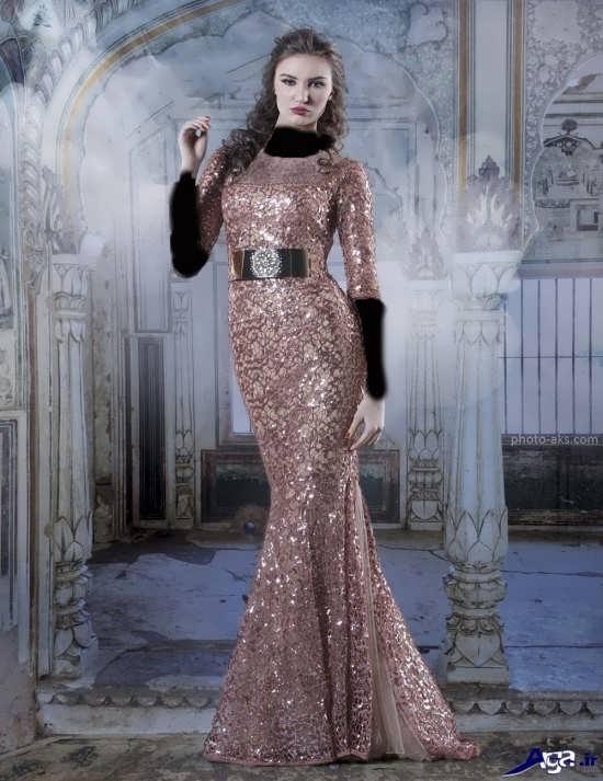 مدل لباس پولکی بلند دخترانه