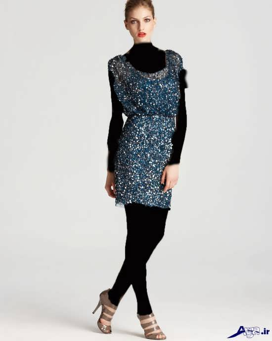 مدل لباس پولکی مجلسی زیبای دخترانه