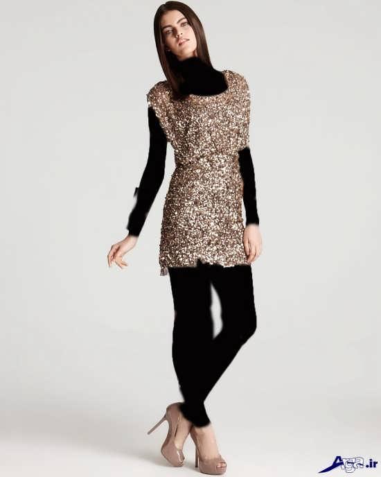 مدل لباس کوتاه پولکی مجلسی