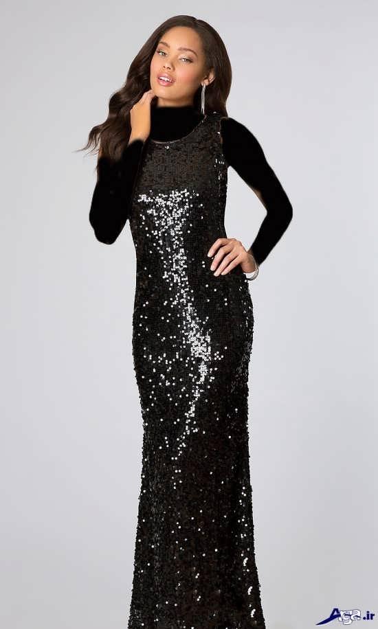 مدل لباس مجلسی پولکی بسیار زیبای زنانه
