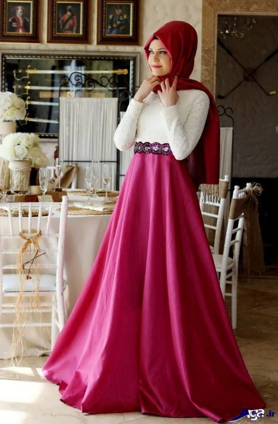 لباس مجلسی پوشیده زیبای دخترانه
