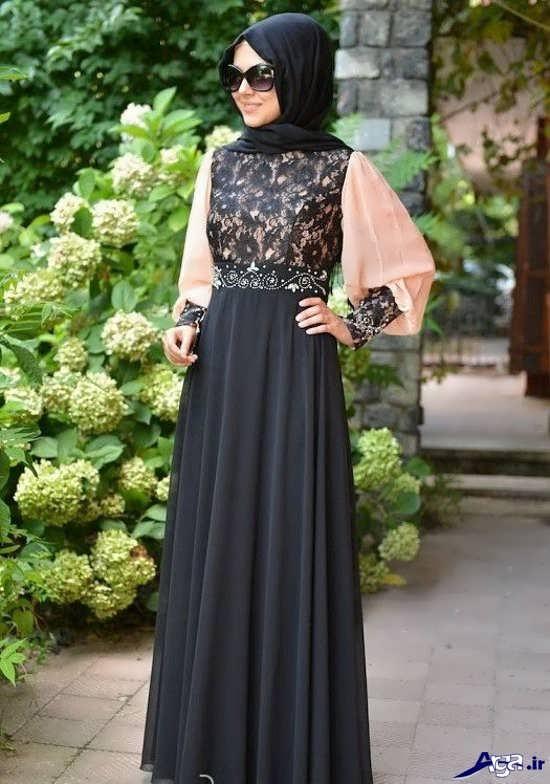 مدل لباس مجلسی زیبای پوشیده دخترانه