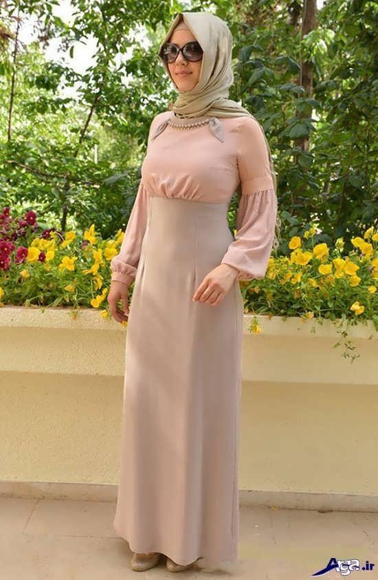 لباس مجلسی زیبای پوشیده دخترانه