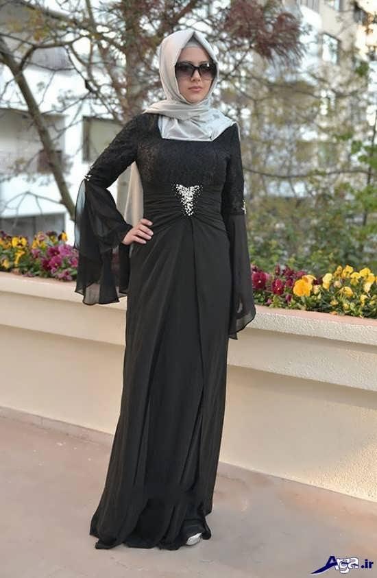 جدیدترین مدل لباس مجلسی پوشیده دخترانه