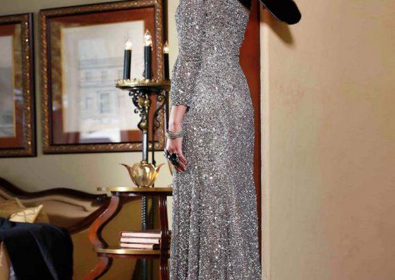 مدل لباس مجلسی پولکی زیبا و جذاب