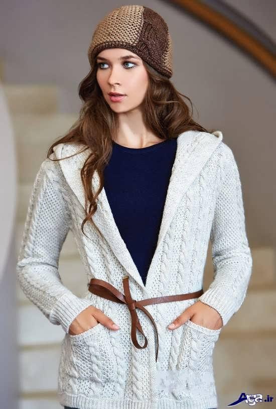 مدل پالتو بافتنی زیبای زنانه و دخترانه