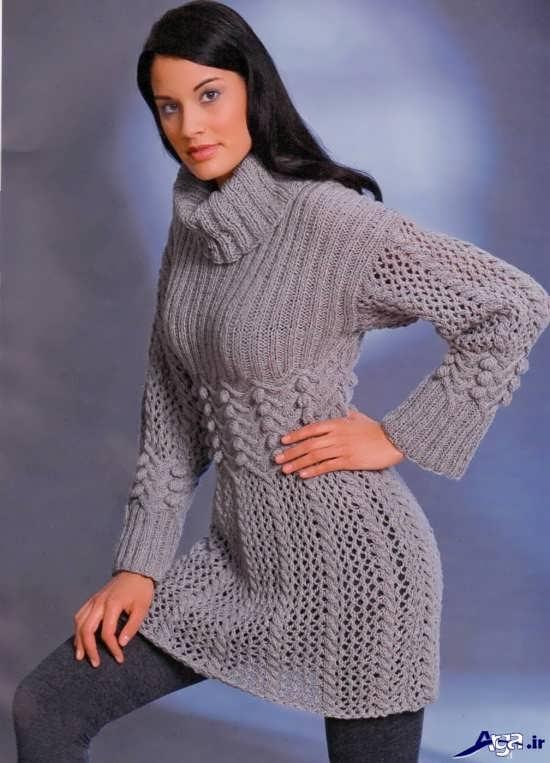 مدل پالتو بافتنی بسیار زیبای دخترانه