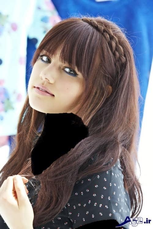 بافت مو دخترانه زیبا