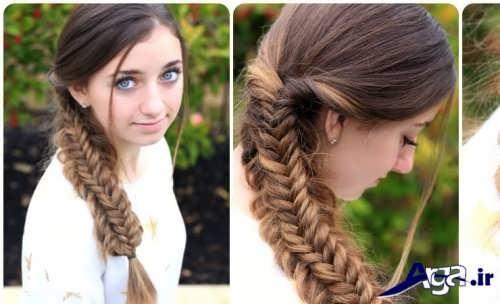 انواع مدل بافت موهای زیبا و جدید دخترانه