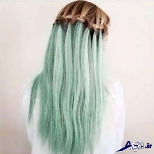 بافت موی ساده دخترانه