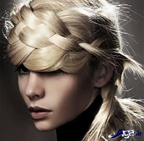 مدل بافت موی حصیری دخترانه