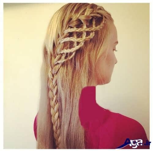 بافت مو دخترانه زیبا و شیک
