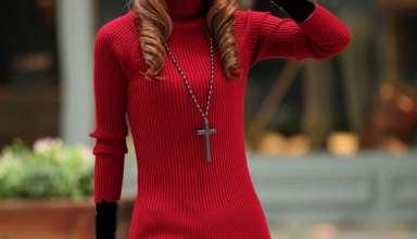 مدل تونیک بافتنی زیبای دخترانه