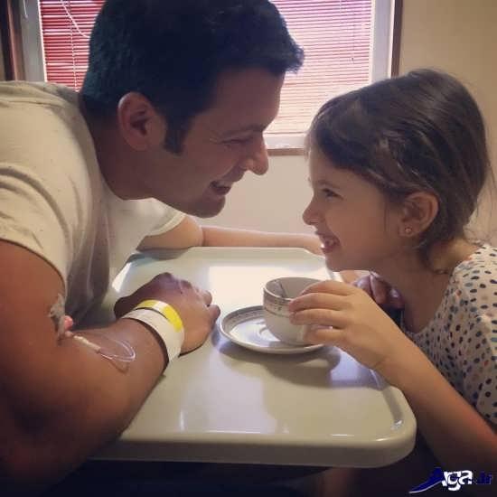 جدیدترین تصاویر پژمان بازغی و دخترش