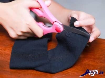 فر کردن مو ها با کمک جوراب